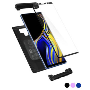 Galaxy-Note-9-Case-Spigen-Thin-Fit-360-Protective-Cover-Tempered-Glass-Screen