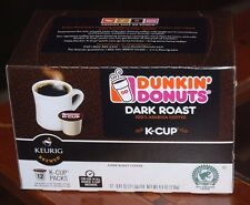 Dunkin Donuts Dark Roast Flavor K-Cup Box of 12 for Keurig Brewer
