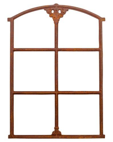a3 Fenêtre de grange fer forgé rouille style antique 75cm