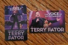 Set of 2 TERRY FATOR Comedian Mirage Hotel /& Casino Las Vegas Room Key Cards