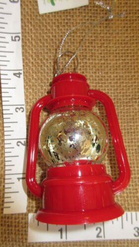 Midwest Cannon Falls Hurricane Lantern w Battery Christmas Tree Ornament