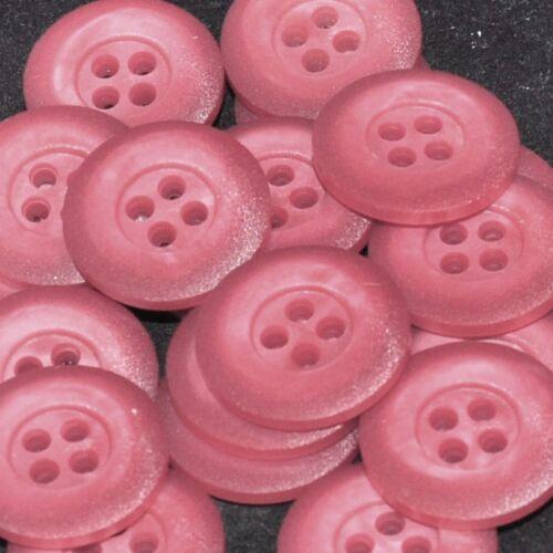 mercerie lot de 5 boutons coloris rose foncé 21mm button