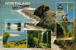D7678cgt-New-Zealand-Northland-Lighthouse-waterfall-postcard
