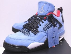 d5e6bd29ac3e Air Jordan Retro 4 Cactus Jack Travis Scott University Blue Sneakers ...