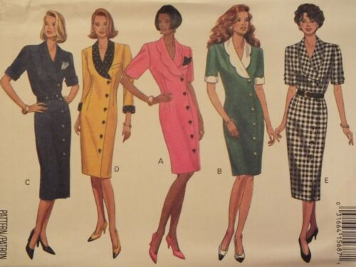 Classy OOP BUTTERICK 6642 Semi-fitted Dress~2 lengths PATTERN 6-8-10//12-14-16 UC