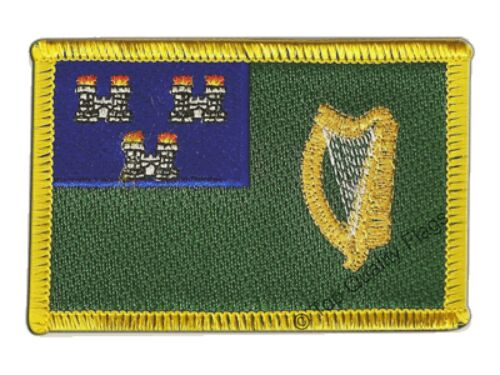 Ireland Dublin Flag EMBROIDERED PATCH 8x6cm Badge