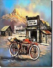 Vintage Replica Tin Metal Sign Motorcycle apache bike shop outdoor mountain 1030
