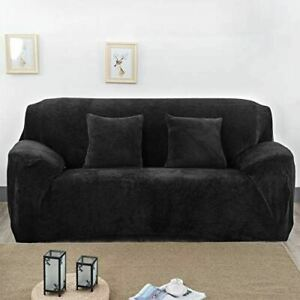 Kindred Home Thick Plush Fitted Couch Cover, Soft 1-Piece Slipcover for Dogs wit