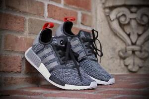 big sale f9f14 0b5bf Image is loading Adidas-NMD-R1-Glitch-Camo-Core-Black-Solid-