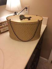 Vintage Poodle Oval Wicker Sewing Basket