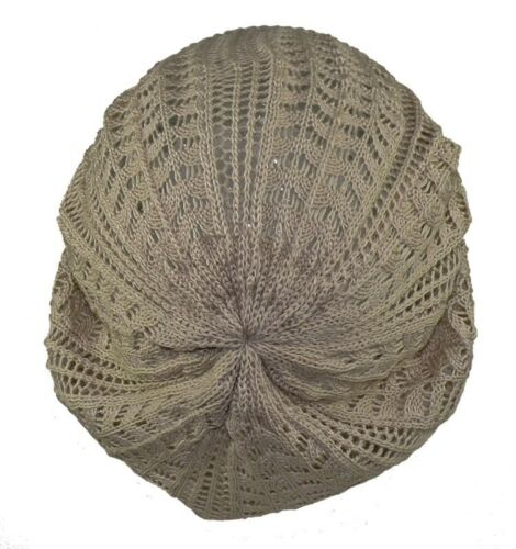 gestrickte Baske für Damen oder Mädchen in 4 Farben Mütze Mützen