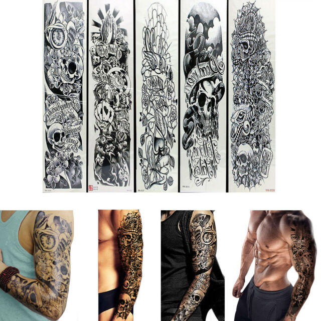 11375ff3c Frequently bought together. 5pc Temporary Tattoo Waterproof Large Arm Body  Art Makeup Tattoos Sticker Sleeve