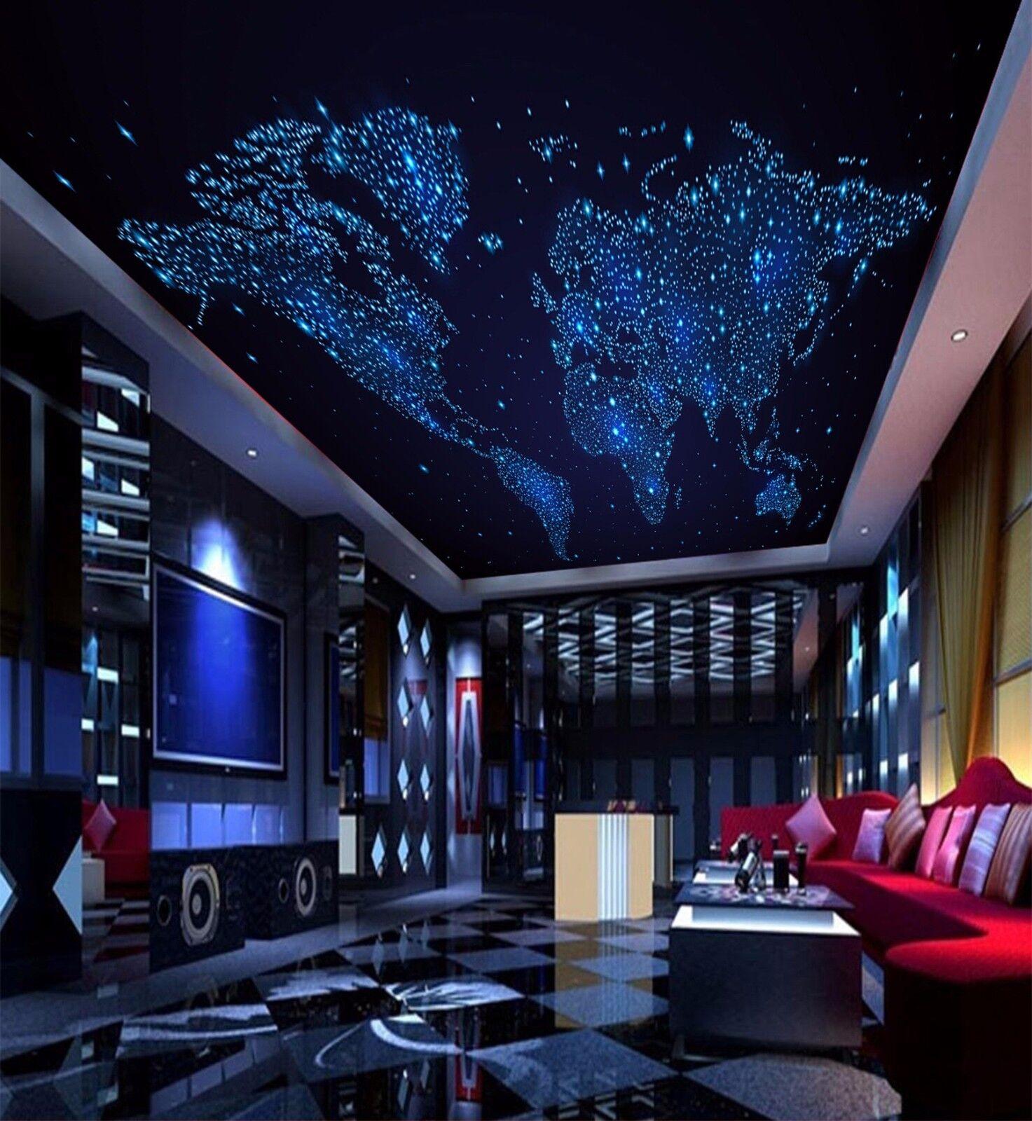 3D Stas Map Ceiling WallPaper Murals Wall Print Decal Deco AJ WALLPAPER AU
