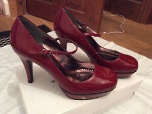 tacco Platform tacco Jane Bnib con Rosso 8 Scarpe col Borgogna Mary nBgnxXEqPf