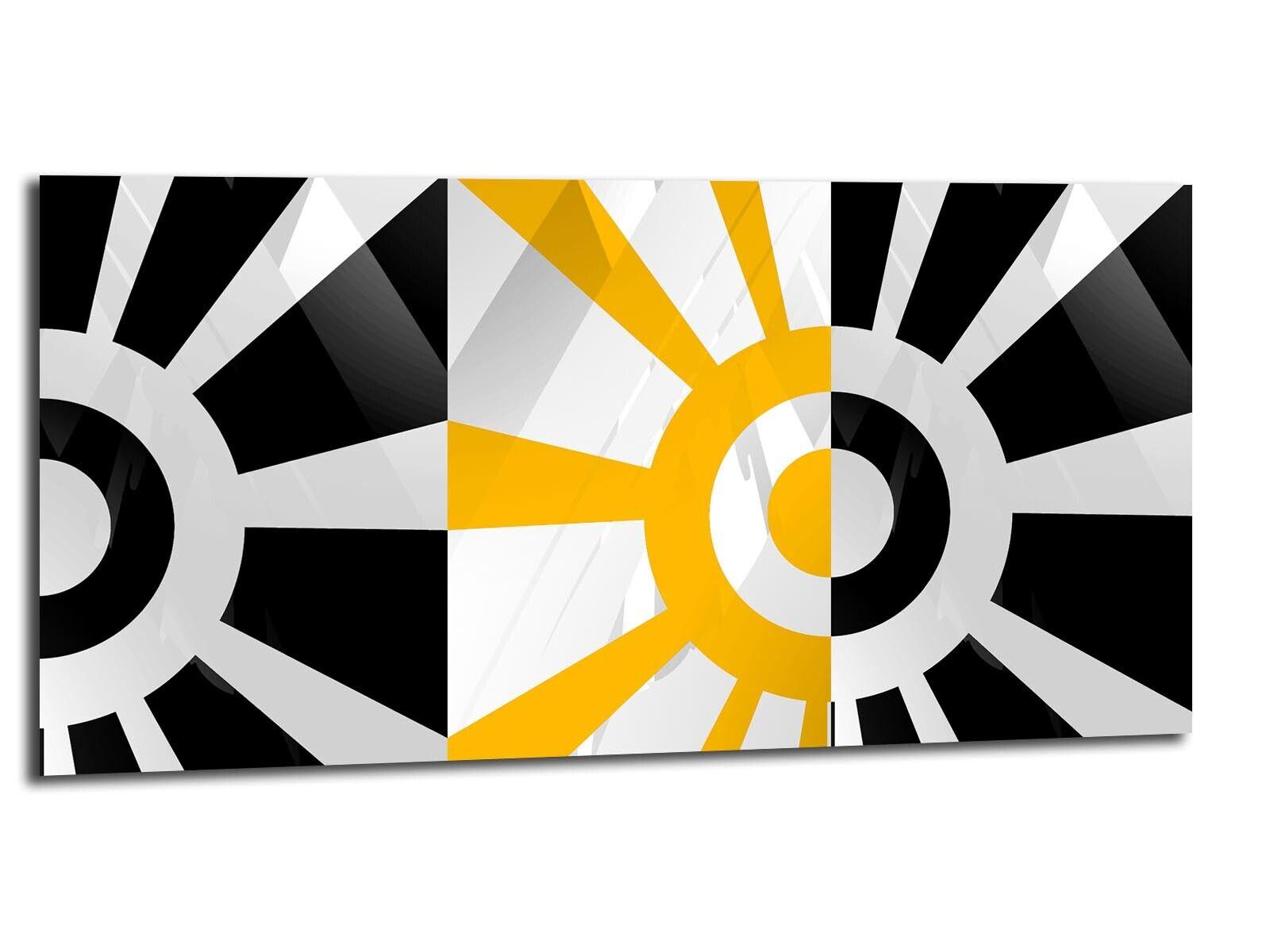 Alu-Dibond Bild ALU100501444 SONNE DESIGN GELB 100 x 50 cm Wandbild ABSTRAKT