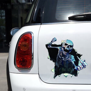 1X-Car-Sticker-3D-Skull-Auto-Hood-Trunk-Thriller-Rear-Window-Reflective-Decals