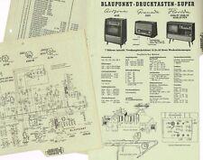 Blaupunkt Granada 2525  Röhrenradio Schaltplan original  Manual 1958-59