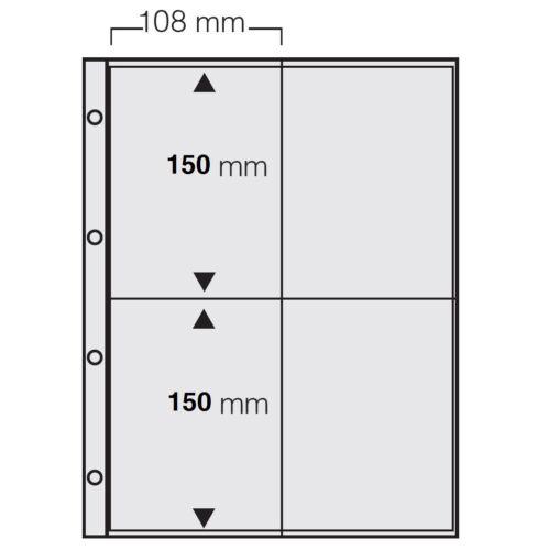 50 x A4 FOTOHÜLLEN SAMMELHÜLLEN POSTKARTENHÜLLEN KARTENHÜLLEN 120 my 4x 10x15 CM