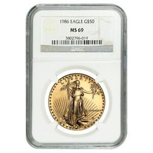 1986-1-oz-50-Gold-American-Eagle-NGC-MS-69-MCMLXXXVI