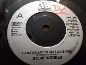 STEVIE-WONDER-034-I-JUST-CALLED-TO-SAY-I-LOVE-YOU-034-7-034-SINGLE-VERY-GOOD-1984