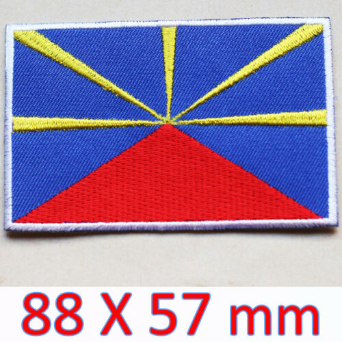 Large Patch REUNION ISLAND Flag Embroidered Iron On Réunion France Saint Denis