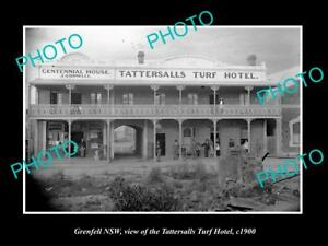 OLD-LARGE-HISTORIC-PHOTO-OF-GRENFELL-NEW-SOUTH-WALES-THE-TURF-HOTEL-c1900