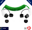 thumbnail 1 - Type 2 EV Coiled Charging Cable-32 amp, 3M (5M UNCOILED) Green -2YR WRTY