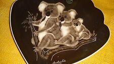 Rare Vtg Hand Painted plate Koala Bears The Little Sydney Pottery Australia