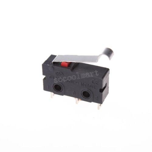 2 pcs R Type Levier actionneur miniature micro interrupteurs Noir
