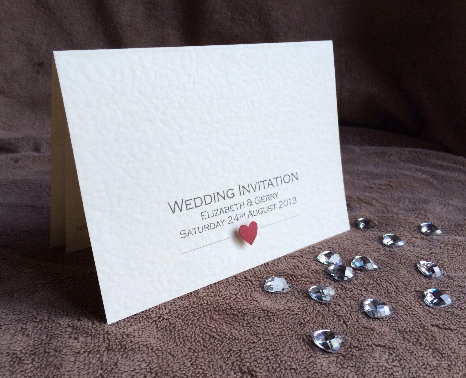 Personalizzato giorno o di sera di fatto a mano inviti di sera nozze-CAMPIONI disponibili f867b6