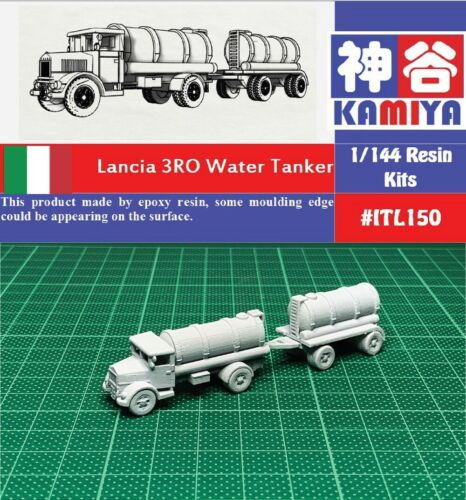 KAMIYA 1//144 WWII Italian Lancia 3RO Water Tanker Resin Kit #ITL150