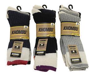 Men S Khombu Wool Blend Crew Socks 9 Pack Multiple Colors