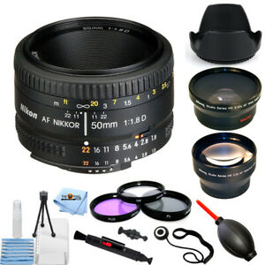 Nikon-AF-NIKKOR-50mm-f-1-8D-Autofocus-Lens-2137-PRO-BUNDLE