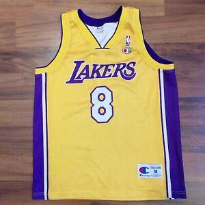 Details about Vtg Champion NBA Los Angeles Lakers Kobe Bryant Euro Cut Jersey Mens Sz Medium M
