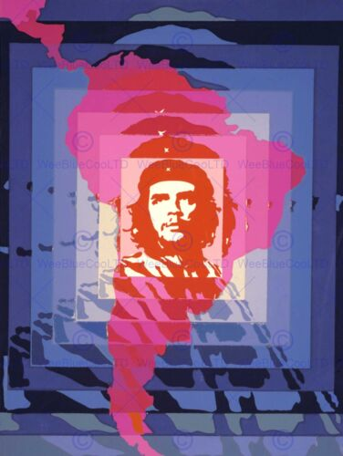 PROPAGANDA POLITICAL REVOLUTION GUEVARA CHE SOUTH AMERICA POSTERPRINT BB6861B