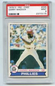 1979-O-PEE-CHEE-BASEBALL-245-PHILADELPHIA-PHILLIES-GARRY-MADDOX-PSA-9-MINT