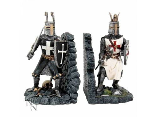19cm Nemesis Now Medieval Knights Book Ends THE DUEL Bookends Pair FREE P+P