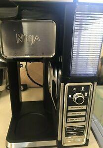 NINJA-COFFEE-BAR-COFFEE-MAKER-CF110-BLACK-SILVER-Works-Tested