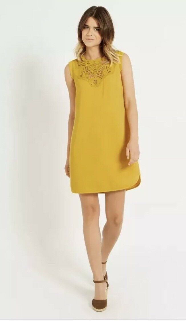 BNWT WOMENS LADIES STUNNING OASIS SHIFT DRESS SIZE IN MUSTARD