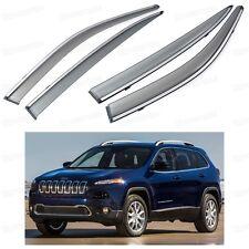 Car Front & Rear Window Visor Deflectors Vent Shade for Jeep Cherokee 2013-2016