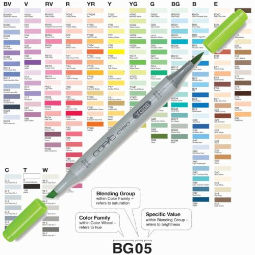Copic Ciao Twin Tip Marker Pens All 180 Colours Available UK Stockist