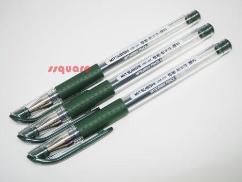 Brown Black 3 x Uni-Ball Signo UM-151 0.38mm Ultra Fine Rollerball Gel pens