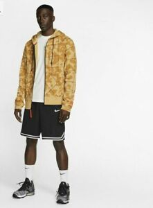 Nike-Sportswear-Men-039-s-SZ-S-Club-Camo-Full-Zip-Basketball-Hoodie-at3913-Browns