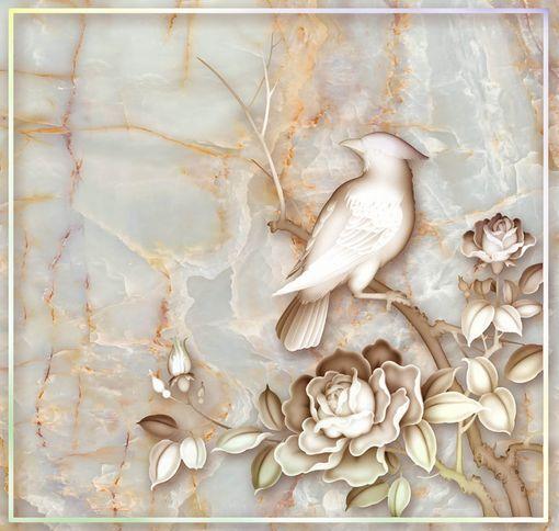 3D Carving Flowers Birds Floor WallPaper Murals Wall Print Decal 5D AJ WALLPAPER
