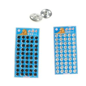 50 Set Metal Snap Fastener Button Press Stud Snaps Clothes Closure Sewing Craft