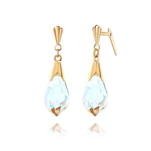 b9bf364da Image is loading 9ct-yellow-gold-medium-crystal-drop-Andralok-earrings-