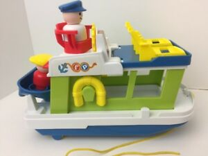 Fisher Price Little People Play Family Houseboat Boat INCOMPLETE SET