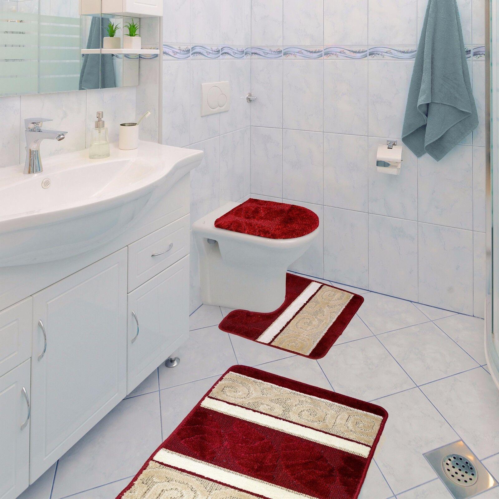 Scroll 3 Piece Bathroom Rug Set Bath Rug Contour Rug