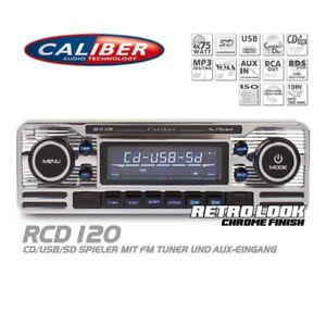 Caliber-RCD120-Autoradio-CD-USB-SD-Retro-Design-Look-Radio-Oldtimer-Style-Chrom