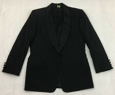 BROOKS BROTHERS women's black satin SHAWL COLLAR 1-btn TUXEDO tux JACKET sz 8 R